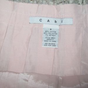 CABI Light Pink Pleat Back Zip Full Knee Skirt 8